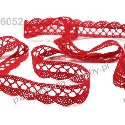 KORONKA KLOCKOWA bawełniana szer. 18 mm -1m - czerwony Akcesoria i gadżety