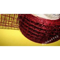 WSTĄŻKA SIATKA METALIZOWANA różne kolory- 1 metr Koraliki i cekiny