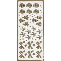 STICKERSY naklejki ozdoby świąteczne różne kolor złoty Akrylowe