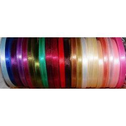 Tasiemki satynowe 6mm/27 m HURT-AŻ 52 kolory Przedmioty do ozdabiania