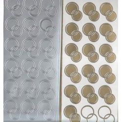 STICKERSY NAKLEJKI -OBRĄCZKI OKRĄGŁE DUŻE srebrne