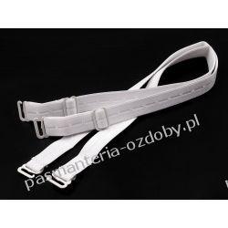 Ramiączka białe , haczyki metalowe, szer. 15mm Przedmioty do ozdabiania