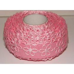 APLIKACJE-KWIATKI AŻUROWE DUŻE - kolor różowy 0,5m Akrylowe