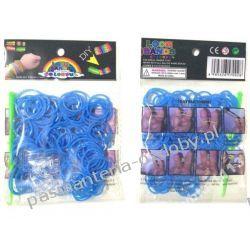 Gumki do Rainbow Loom 200szt szafirowe Przedmioty do ozdabiania