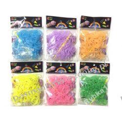 Gumki do Rainbow Loom 200szt świecące w ciemnosci Koraliki i cekiny