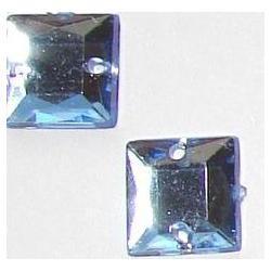 DŻETY kamienie kwadraty do przyszycia 8mm KOLOR BŁĘKITNY Przedmioty do ozdabiania