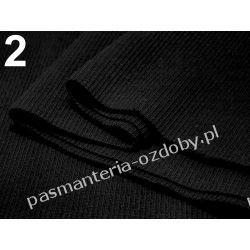 Ściągacz elastyczny bawełna 16x80cm - czarny