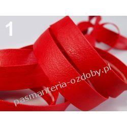 Lamówka skośna sztuczna skóra szer. 15mm - 1 m - czerwona
