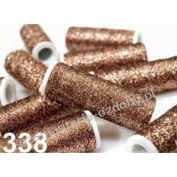 NICI METALIZOWANE METALUX- 60m - jasny brązowy Akcesoria i gadżety