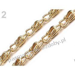 Łańcuszek do torebki z zapięciem 90cm - kolor złoty