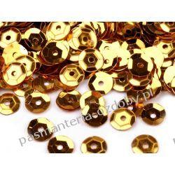CEKINY KOŁA ŁAMANE 6mm 6g (ok 500szt) - złoty