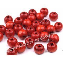 Koraliki drewniane Ø10 mm - czerwony