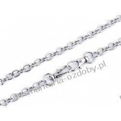 Łańcuszek do torebek z zapięciem (długość 120 cm) - kolor srebrny