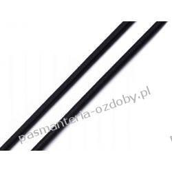 GUMA / GUMKA PŁASKA CZARNA 4 mm / 1m (maseczkowa, miękka)