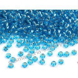Koraliki szklane - PRECIOSA - rozmiar 10/0 -20g- powlekana dziurka - jasny błękit
