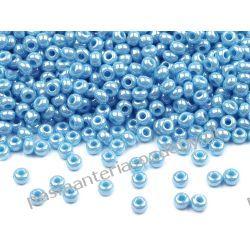 Koraliki szklane - PRECIOSA - rozmiar 10/0 -20g- perłowy błękit