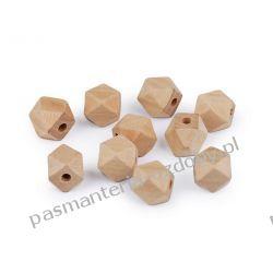 Koraliki drewniane wieloboczne 12x12 mm