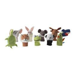 IKEA: Pacynki - zwierzaki - 10szt