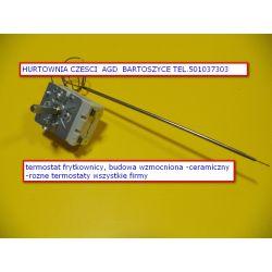 TERMOSTAT frytkownicy 0-190 C -1-FAZA-2 PODLACZENIA ELEKTRYCZNE -ROZNE TERMOSTATY-WSZYSTKIE