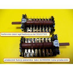 Przełącznik,WYLACZNIK  funkcji do piekarnika BEKO 263900054 ,8 -POZYCJI -ROZNE przelaczniki-WSZYSTKIE