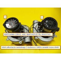 Silnik,TURBINA Nilfisk- Ametek  odkurzacza  1400W 3 turbinowy wysokosc 208mm,srednica turbin  143mm -rozne silniki