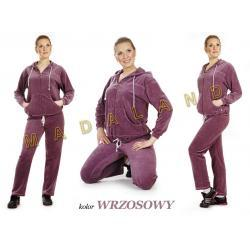 Dres damski z weluru model BIG kolor wrzosowy