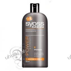 SYOSS Men Power & Strength, Szampon wzmacniający dla mężczyzn do włosów normalnych, 500 ml