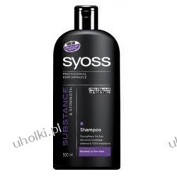 SYOSS  Substance & Strength Shampoo, Wzmacniający szampon do włosów normalnych i delikatnych, 500 ml