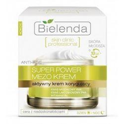 BIELENDA Skin Clinic Professional, Aktywny krem korygujący ANTI-AGE dzień/ noc, cera mieszana, tłusta, 50 ml...