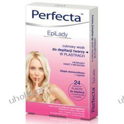 DAX Perfecta Epi Lady, Cukrowy wosk do depilacji twarzy w plastrach, 24 szt