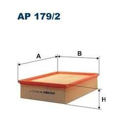 AP 179/2 F AP179/2 FILTR POWIETRZA AUDI A4 WSZYSTKIE MODELE B6/8E2 8E5 SZT FILTRY FILTRON [851087]...