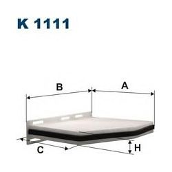 K 1111 F K1111 FILTR KABINOWY AUDI A3 1.6-3.2 SEAT ALTEA/TOLEDO III SKODA OCTAVIA II VW CADDY III/GOLF V/TOURAN FILTRY FILTRON [853853]...