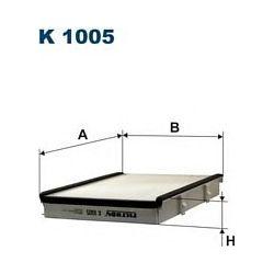 K 1005 F K1005 FILTR KABINOWY VW GOLF III-93 VENTO -93 W RAMCE FILTRY FILTRON [854816]...