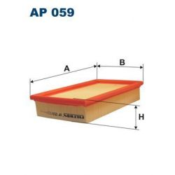 AP 059 F AP059 FILTR POWIETRZA SEAT IBIZA 1,7I MALAGA 1,5I SZT FILTRY FILTRON [855028]...