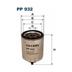 PP 932 F PP932 FILTR PALIWA RENAULT ESPACE 2,2TD 12V R19 1,9D SZT FILTRY FILTRON [857176]...