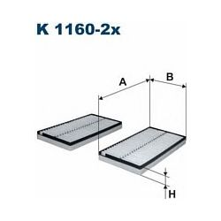 K 1160-2X F K1160-2X FILTR KABINOWY BMW SERIE 5/6 03- FILTRY FILTRON [862588]...