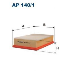 AP 140/1 F AP140/1 FILTR POWIETRZA SEAT TOLEDO 91- SILNE ZANIECZYSZCZ SZT FILTRY FILTRON [863447]...