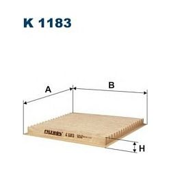 K 1183 F K1183 FILTR KABINOWY TOYOTA PRIUS 1.5 00-03 YARIS/YARIS VERSO 1.0-1.5 16V 99- FILTRY FILTRON [872548]...