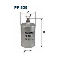 PP 835 F PP835 FILTR PALIWA MERCEDES C180W202 E200 W124 190E W201PA SZT FILTRY FILTRON [872972]...