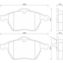 625181 FOM 625181 KLOCKI HAMULCOWE AUDI A3/ A4/ VW BORA/ GOLF II/ PASSAT 1,9TD GR.19,5MM* FOMAR KLOCKI ZACHODNIE [877815]...