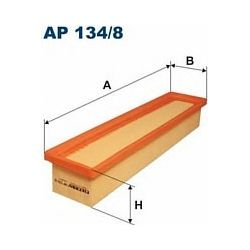 AP 134/8 F AP134/8 FILTR POWIETRZA RENAULT CLIO III 1.2I 16V/MODUS 1.2I 16V/TWINGO 1.2I 16V 7/04 SZT FILTRY FILTRON [888819]...