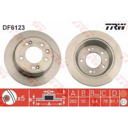 DF6123 TRW DF6123 TARCZA HAMULCOWA 262X10 P 5-OTW KIA CEED SPORTAGE HYUNDAI I30 SZT TRW TARCZE [848962]...