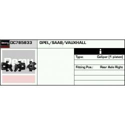 DC785833 DR DC785833 ZACISK HAMULCOWY OPEL/SAAB SIGNUM/VECTRA C 9-3 YS3F TYL PRAWY 95-08 SZT REMY ZACISKI HAMULCOWE REMY [853389]...