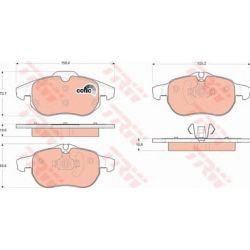 GDB1613 TRW GDB1613 KLOCKI HAMULCOWE FIAT CROMA 1.9D/ 2.2 16V/ OPEL VECTRA C GR.19,6MM* TRW KPL TRW [879831]...
