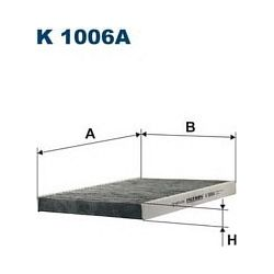 K 1006A F K1006A FILTR KABINOWY VW GOLF III 93-IV 94- Z AKT.WEGLEM FILTRY FILTRON [897909]...
