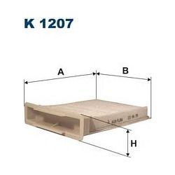 K 1207 F K1207 FILTR KABINOWY CITROEN C1/PEUGEOT 107/TOYOTA AYGO 05 SZT FILTRY FILTRON [898057]...
