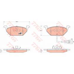 GDB1658 TRW GDB1658 KLOCKI HAMULCOWE AUDI SEAT SKODA VW A3 (8P1) A3 SPORTBACK (8PA)/ALTEA/ALTEA XL/ LEON TRW KPL TRW [898922]...