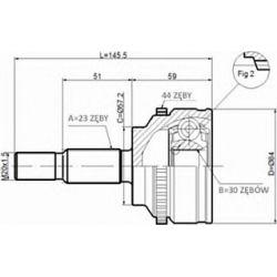 C.350 STA C.350 PRZEGUB HOMOKIN. ZEWN RENAULT MEGANE 1.9 DCI 01 SZT STATIM PRZEGUBY STATIM [900774]...