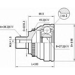 C.330 STA C.330 PRZEGUB HOMOKIN. ZEWN- AUDI A6 2,5TDI 94-97 SZT STATIM PRZEGUBY STATIM [903383]...