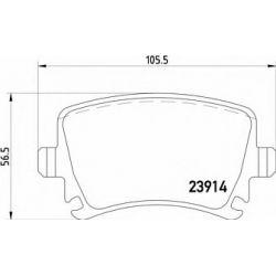 2391402 TX 2391402 KLOCKI HAMULCOWE AUDI A3/SKODA SUPERB/VW PASSAT 17.2MM WVA23914 ZE SRUBAMI KPL TEXTAR KLOCKI TEXTAR [905684]...
